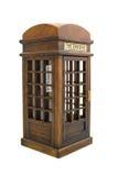 Telefono di paga inglese della città nell'esecuzione del ricordo Fotografie Stock