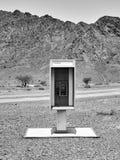 Telefono di paga nel deserto Fotografia Stock Libera da Diritti