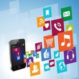 Telefono di Smart di stile della metropolitana Fotografia Stock Libera da Diritti