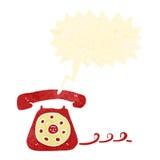 telefono di squillo del retro fumetto illustrazione di stock