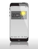 Telefono di vetro di concetto Fotografia Stock
