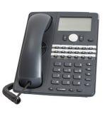 Telefono di VOIP isolato su priorità bassa bianca Fotografia Stock