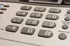 Telefono e fax della tastiera Fotografia Stock