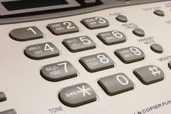 Telefono e fax della tastiera Immagini Stock