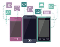 Telefono e le sue funzioni Fotografia Stock Libera da Diritti