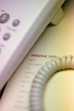 Telefono e pianificatore personale Immagini Stock