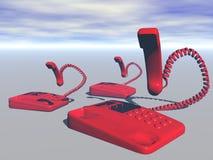 Telefono e sorriso Fotografia Stock