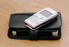 Telefono ed organizzatore delle cellule immagine stock