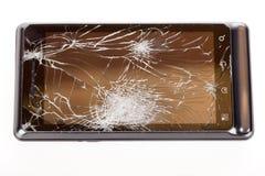 Telefono fracassato delle cellule Fotografie Stock Libere da Diritti