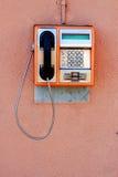 Telefono a gettone pubblico Immagine Stock Libera da Diritti