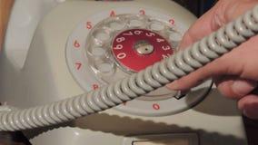 Telefono grigio d'annata archivi video