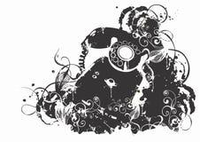 Telefono Grungy illustrazione di stock