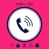 Telefono, icona del ricevitore telefonico Fotografie Stock Libere da Diritti