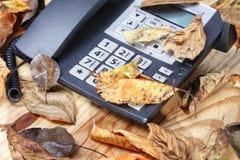Telefono incustodito immagine stock
