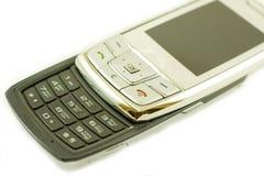 Telefono mobile argenteo Fotografia Stock