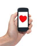 Telefono mobile con lo schermo vuoto Immagini Stock Libere da Diritti