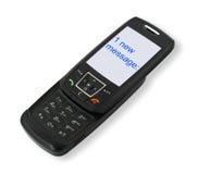 Telefono mobile con SMS immagini stock