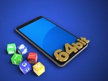 telefono mobile 3D illustrazione di stock