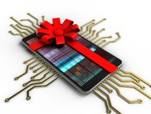 telefono mobile 3D Fotografia Stock