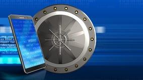 telefono mobile 3D Immagini Stock Libere da Diritti