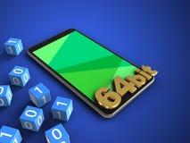 telefono mobile 3D illustrazione vettoriale
