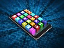 telefono mobile 3D Fotografia Stock Libera da Diritti