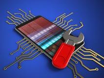 telefono mobile 3D Fotografie Stock