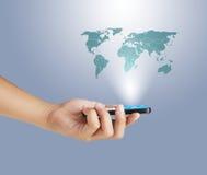 Telefono mobile dello schermo di tocco fotografie stock