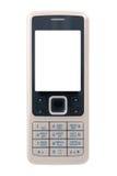 Telefono mobile di affari con visualizzazione pulita (isolata Immagine Stock
