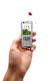 Telefono mobile di ecologia fotografia stock libera da diritti