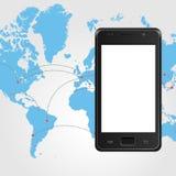 Telefono mobile di vettore mascherina royalty illustrazione gratis