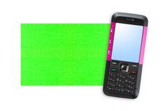 Telefono mobile e documento di nota Immagine Stock Libera da Diritti