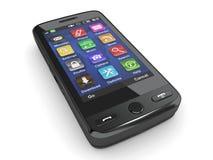 Telefono mobile nero. 3d Immagini Stock Libere da Diritti
