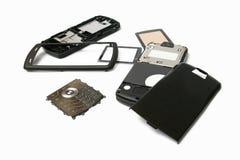 Telefono mobile in parti Immagini Stock