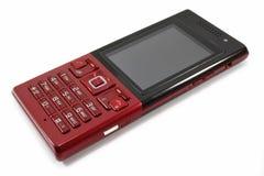 Telefono mobile rosso Immagine Stock