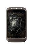 Telefono mobile rotto Fotografia Stock