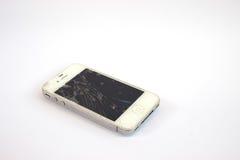 Telefono mobile rotto fotografia stock libera da diritti