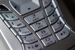 Telefono mobile, tastiera fotografie stock libere da diritti