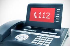 Telefono moderno con un'esposizione Fotografie Stock Libere da Diritti