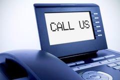 Telefono moderno con un'esposizione Fotografie Stock