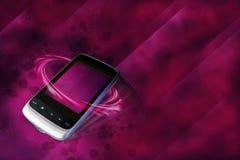 Telefono moderno delle cellule nel lusso fotografie stock