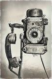 Telefono molto vecchio Immagini Stock Libere da Diritti