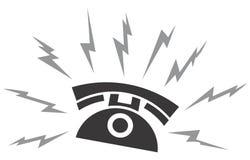 Telefono nero illustrazione di stock