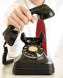 Telefono nero Fotografia Stock Libera da Diritti