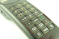 Telefono nero Fotografia Stock
