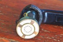 Telefono nero del microtelefono tagliato immagini stock libere da diritti