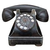 Telefono nero dell'annata fotografia stock libera da diritti