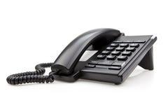 Telefono nero dell'ufficio Fotografie Stock Libere da Diritti