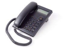 Telefono nero dell'ufficio Immagine Stock