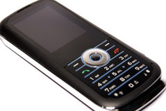 Telefono nero sottile delle cellule Immagini Stock